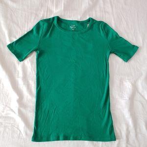 Green xxs j.crew perfect fit t shirt women